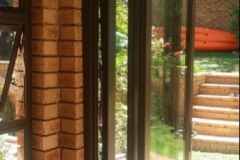 Three panel stacking folding door