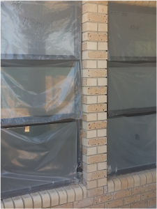 Plastic cover on aluminium windows is extremely important during the building process.
