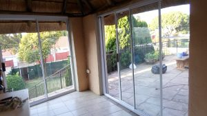 White aluminium sliding door supply and fitted for lapa.