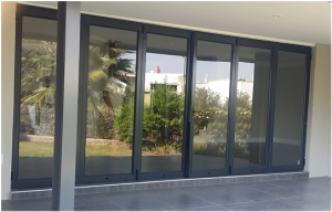 Aluminium charcoal Stacking door