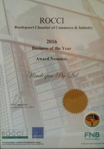 Award nominee for business of the year.