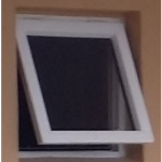 This white top hung window size is recommended for bathrooms.