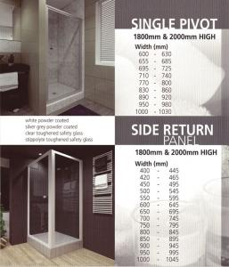 Single Pivot Shower Door