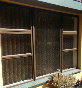 Top hung window 2400x1800 with 4 vents bronze