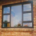 Aluminium top Hung window 4 vents 2100x1500
