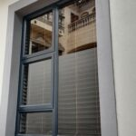 Aluminium top Hung window 1200x1800 two vents charcol colour