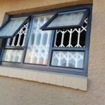 Aluminium top Hung window 2 vents 1500x900