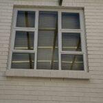 Aluminium top Hung window 1500x1500 Natural colour 2 vents
